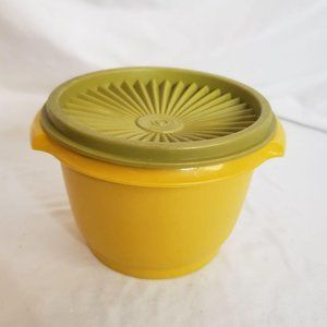 Vintage Tupperware Mismatch Set Gold Avocado